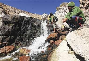 El manantial del Silala, río para Chile, se encuentra en el departamento de Potosí