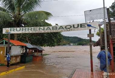 Las aguas del Río Beni han aumentado