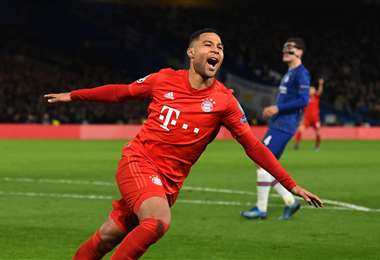 Serge Gnabry, del Bayern, marcó un doblete ante Chelsea. Foto. AFP