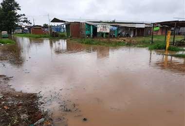 Problemas por las lluvias en Cuatro Cañadas