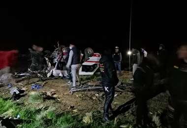 El accidente se produjo la noche del miércoles. (Fotos: APG)