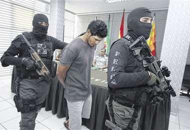 Este es el detenido del anterior caso de feminicidio, ocurrido en el Plan Tres Mil; fue enviado a Palmasola. Foto: Hernán Virgo
