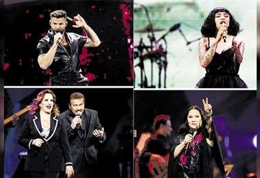 Ricky Martin, Mon Laferte, Pimpinela y Ana Gabriel dejaron sus mensajes al pueblo chileno en el escenario