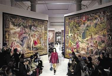 Lanvin. Los tapices representaron el lujo y la elegancia de la marca