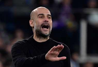 Pep Guardiola, director técnico del Manchester City. Foto. AFP