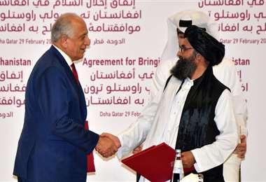 El acuerdo pone fin a los 18 años de guerra en Afganistán