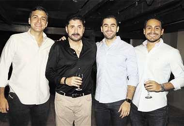 Descendencia. Guido Náyar, con sus hijos Guido, Andrés y Adolfo