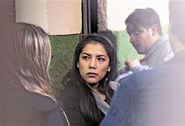 La exjefa de gabinete y apoderada de Evo guardará detención preventiva. Foto: APG