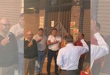 Posesión en la calle. Esto pasó el sábado, cuando asumió David Soliz . Un caso inédito.