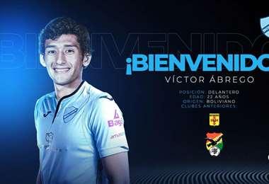Así dieron la bienvenida a Víctor Ábrego. Foto: Club Bolívar