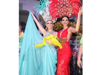 Laurent Graña (Piltrafas) y Romy Paz del Carnaval cruceño (Foto: Ángel Farell)