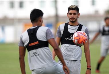 José María Carrasco se incorporó el lunes al trabajo del equipo celeste luego de formar parte de la selección que jugó el Preolímpico. Foto. Jorge Gutiérrez