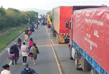 La ruta a Argentina estaba bloqueado desde el martes. Foto archivo