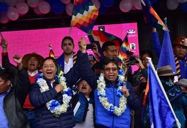 El acto de proclamación se realizó este sábado en El Alto. (Foto: APG)