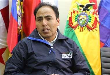 Navarro dijo que lo que buscan es la unidad a través del deporte. Foto: Mauricio Cambará