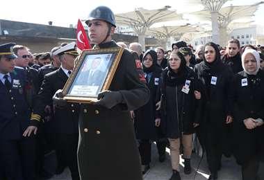 Turquía anunció una operación militar en el noroeste de Siria después de que los ataques aéreos del régimen el 27 de febrero mataran a más de 30 soldados turcos. Foto: AFP