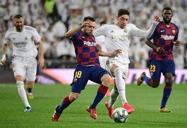 El clásico español se juega en el Santiago Bernabéu. Foto. AFP