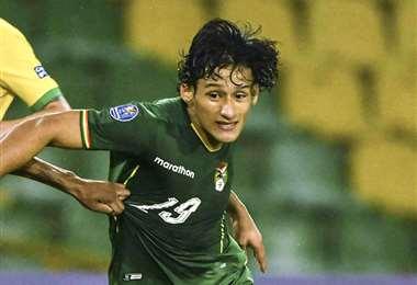 Víctor Ábrego, goleador de la selección sub-23 de Bolivia. Foto. Archivo