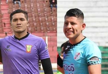 Yimi Roca, de Nacional Potosí y Jhohan Gutiérrez, de Municipal Vinto son las principales novedades en la Verde. Foto. Archivo DIEZ