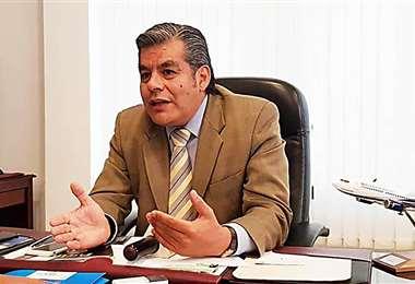 Juan Carlos Ossio, fue posesionado en el cargo el año pasado. Foto: Los Tiempos