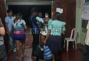 Los pacientes y parte del personal del hospital de San Carlos fueron evacuados. Foto: Soledad Prado