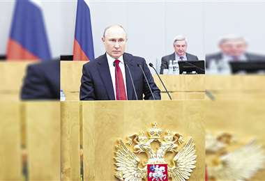 El presidente Putin hizo uso de la palabra el martes, ante los diputados de la Duma