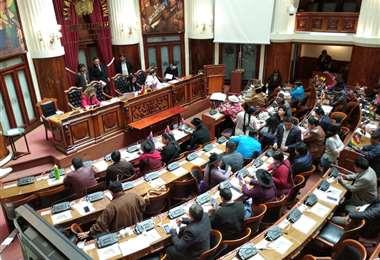 La sesión en el Legislativo I Foto: Vicepresidencia.