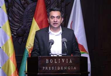 La autoridad en conferencia de prensa I Foto: Presidencia.