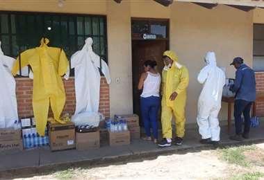 Los trabajos de desinfección se realizan por personal capacitado