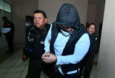 El sujeto fue cautelado en La Paz I Foto: APG Noticias.