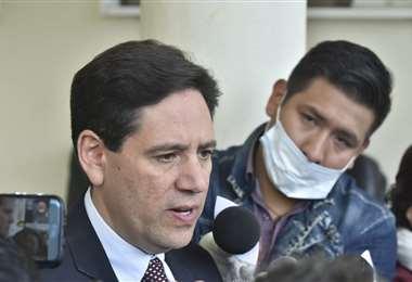 Elpresidente del TSE en conferencia de prensa I Foto: APG Noticias.