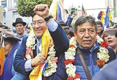 Luis Arce y David Choquehuanca muestran en Facebook todos sus actos de campaña