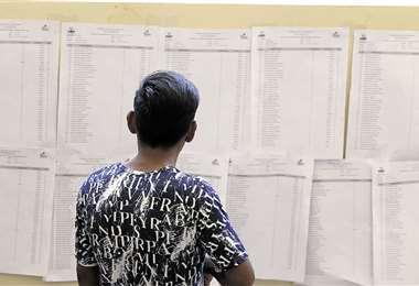 Los opositores al MAS están en desigualdad de condiciones. Siguen vigentes algunas normas para burlar la votación y contar con una mayor representación legislativa. Foto: Jorge Ibáñez