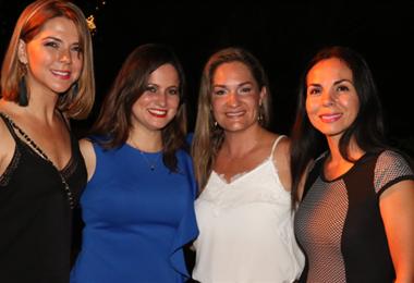 Diana Steel, Jessica Barbery, Regina Otero y Cecilia Escalante