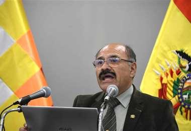 El ministro de Salud, Aníbal Cruz, en conferencia de prensa este domingo | Foto: Ministerio de Comunicación