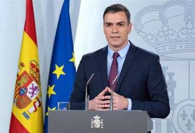 Pedro Sánchez se dirigó a la prensa este sábado. Foto: 20minutos.es