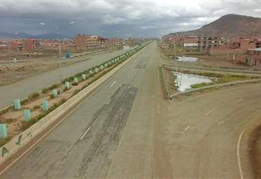 Las avenidas de Oruro están vacías I Foto: Facebook.