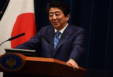 Shinzo Abe, primer ministro japonés. Foto: AFP