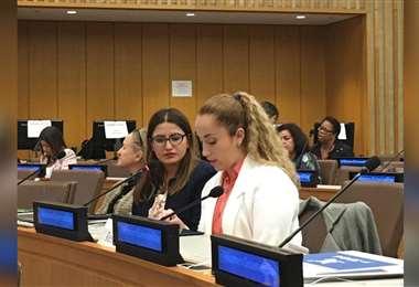Natalia Montellano estuvo en la ONU para participar en el Día Internacional de la Mujer y la Niña en la Ciencia