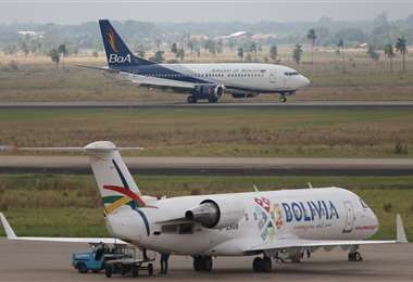 El Gobierno boliviano prohibió los vuelos internacionales  para evitar la propagación del coronavirus. Foto: Hernan Virgo