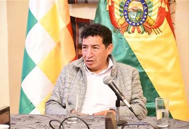El legislador en conferencia de prensa I Foto: Diputados.