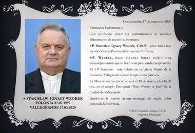 El polaco trabajó en Tarija, Tupiza y Santa Cruz.