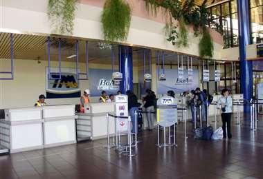 La terminal aérea de Cochabamba I Foto: archivo.