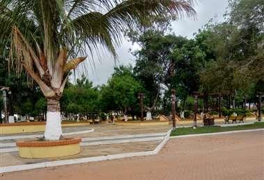 Plaza principal de Guarayos