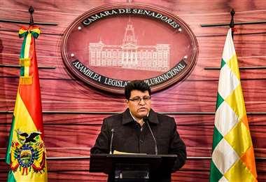 El jefe de bancada del oficialismo en la Cámara Alta I Foto: archivo.