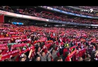 You'll never walk alone, es una canción emblemática del Liverpool