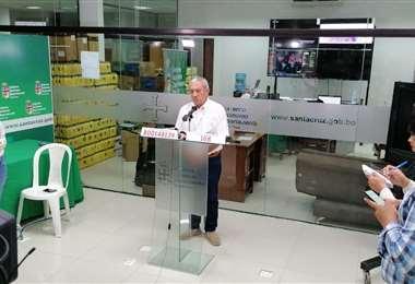 Óscar Urenda confirmó dos nuevos casos este jueves. Foto: Gobernación