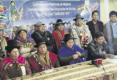 Los dirigentes campesinos del MAS piden una misión de observación electoral del Parlamento español