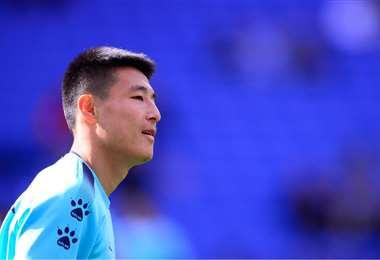 Wu Lei, futbolista del Espanyol de Barcelona. Foto: Internet