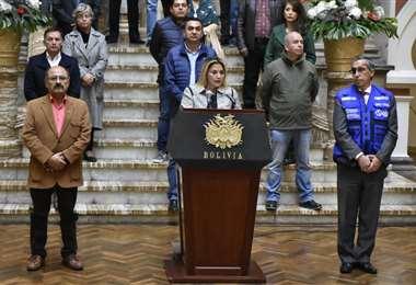 Presidenta Jeanine Áñez (Foto: APG)